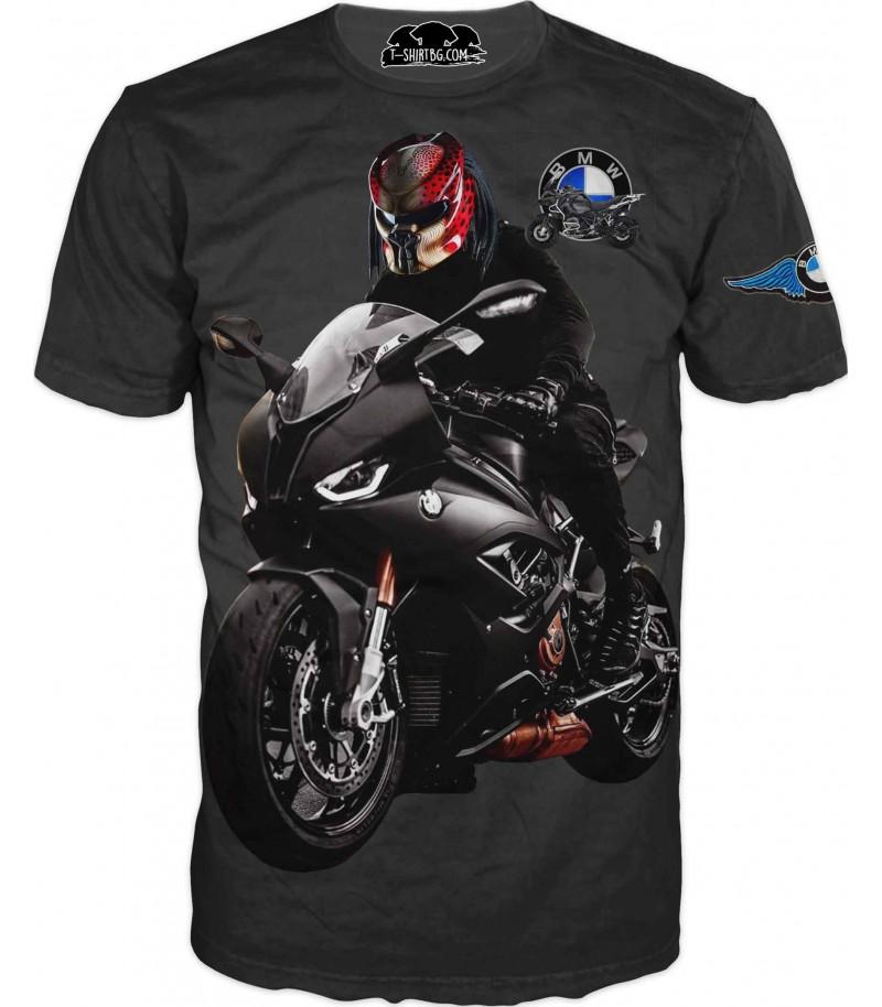 Тениска с мотор на БМВ - маска
