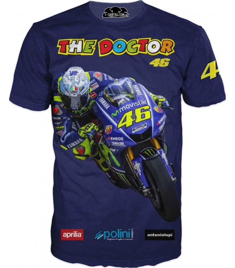 Тениска с моторист - Доктор Валентино Роси