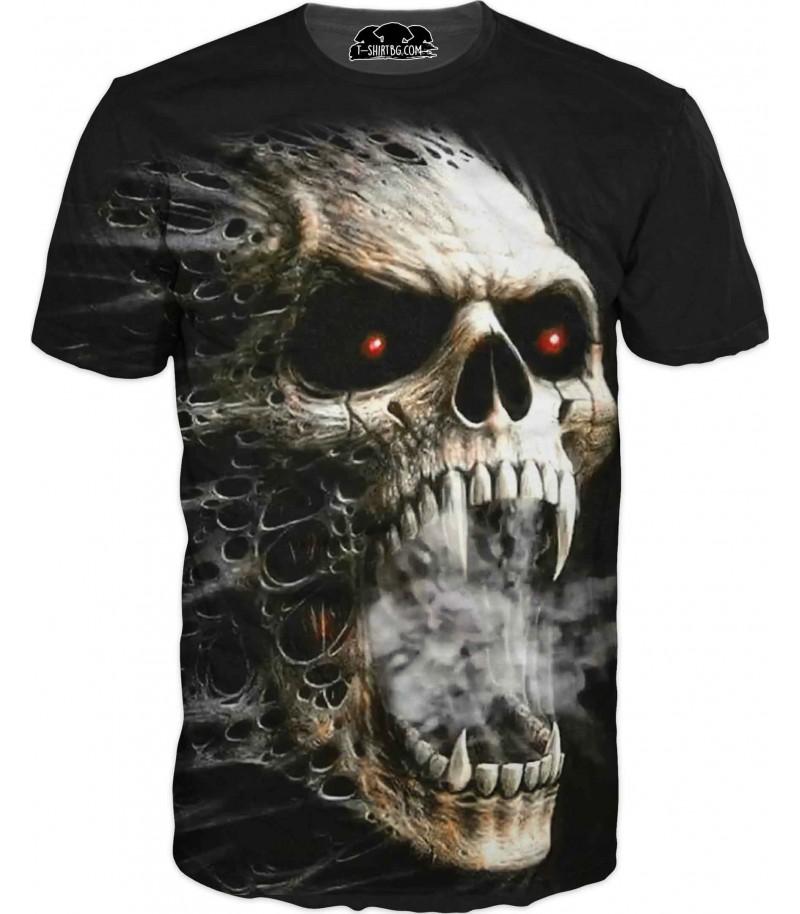 Тениска с череп - Черния Джак