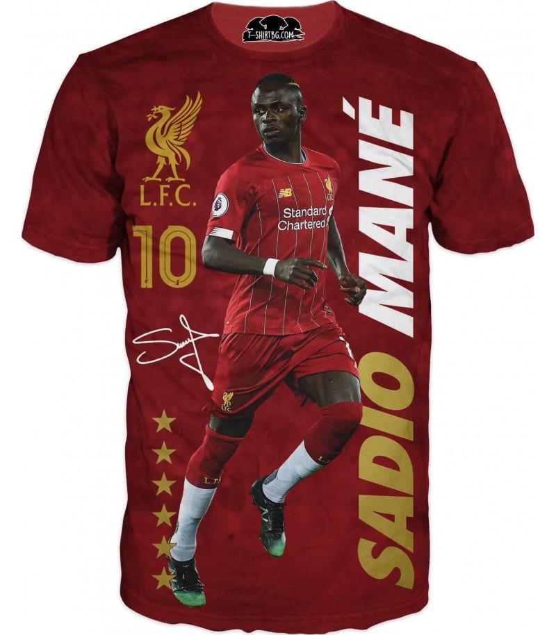 Футболна тениска със Садио Мане с текст