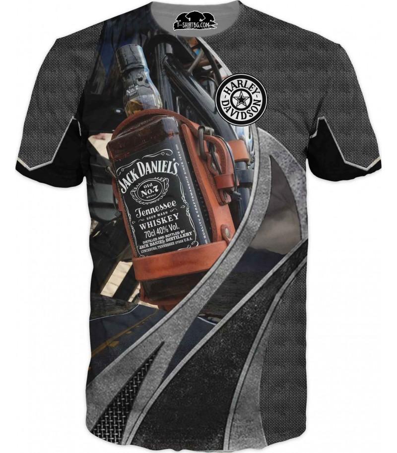 Забавна тениска  - Джак Даниелс с мотор